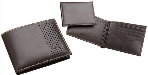 Checkered Hole Guess Wallet for Men