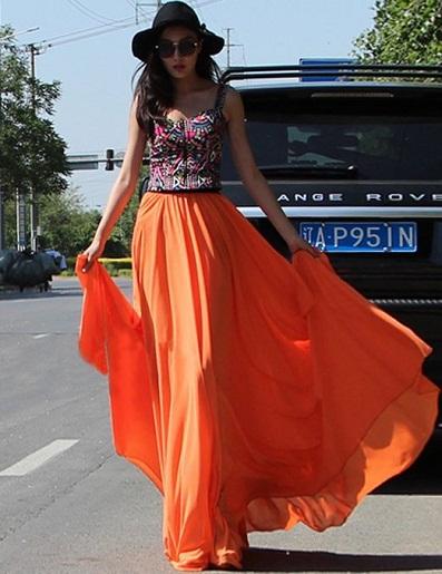 chiffon skirts