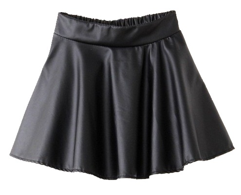 Circular Casual Satin skirt