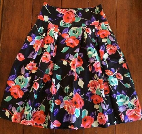 Circular Floral Skirt