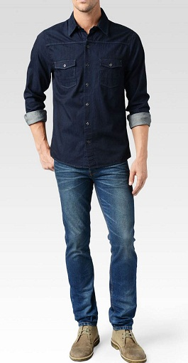 Classic Denim Tunic for Men