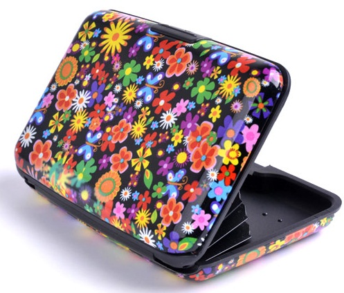 Colourful Flower Aluminium Wallet