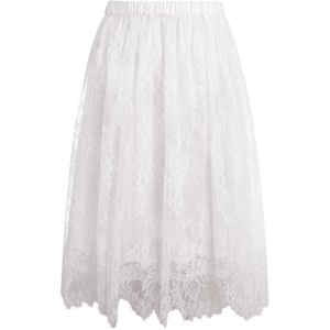 Cool White Lace Silk Skirts