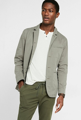 Cotton Military Blazer Jacket