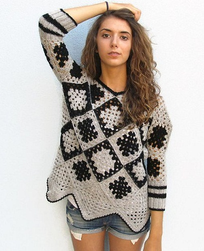 Crochet Designed Winter Top
