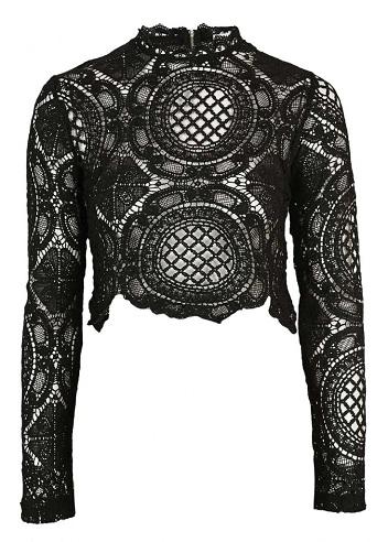 Crochet Winter Crop Top