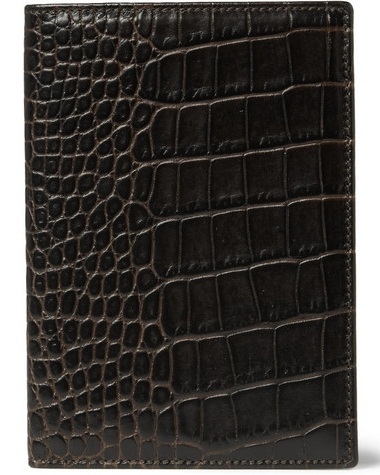 Crocodile Leather Passport Wallet
