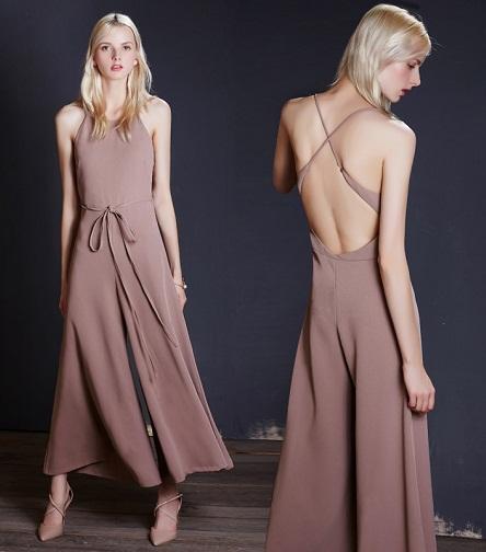 Cross strap Culotte Jumpsuit-7