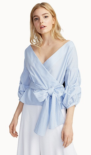 Crossover Puff sleeve Top