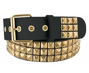 Crystal Pyramid Gold Belt for Men