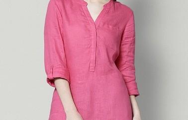 Cute Pink Linen Tunics