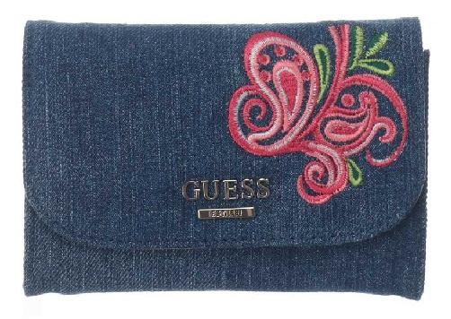 Denim Guess Wallet for Women