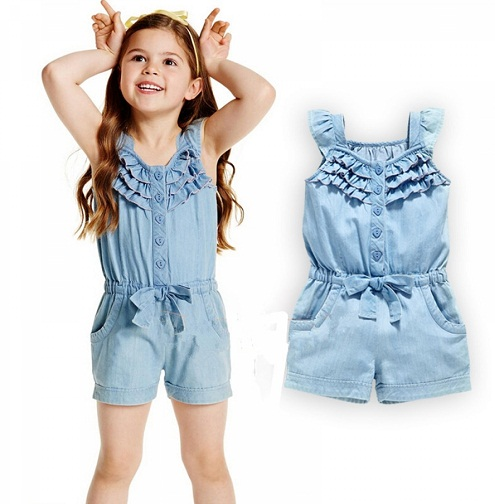 Denim jumpsuits for Kids
