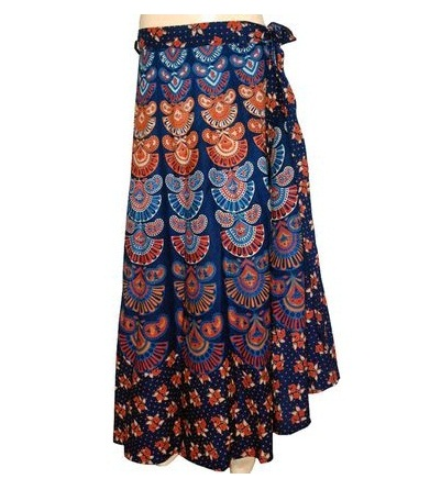 Designer Silk Wrap around Skirt