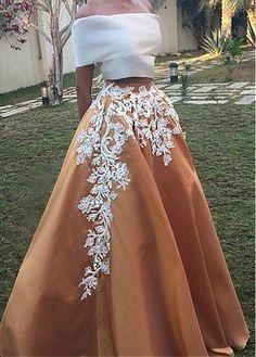 Designer orange skirt