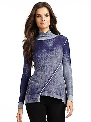 Diagonal Seam Winter Top