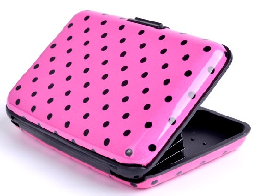 Dot Pattern Aluminium Wallet