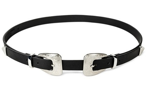 Double Buckle Women's Black Belt