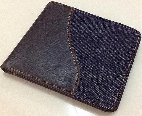 Eccentric Mens Blue Wallet