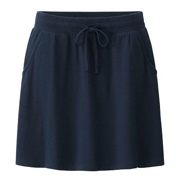 Elegant Navy Straight Midi Skirts