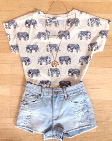 Elephant Printed Crop Top