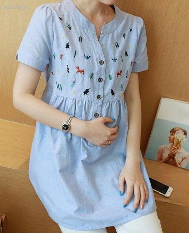 Embroidered Maternity tunic