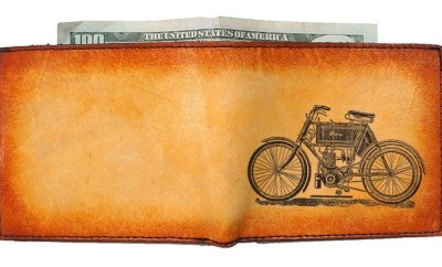 Etched Vintage Wallets for Men