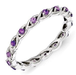 Eternity February birthstone ring