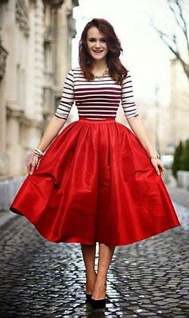 Fancy A line skirt