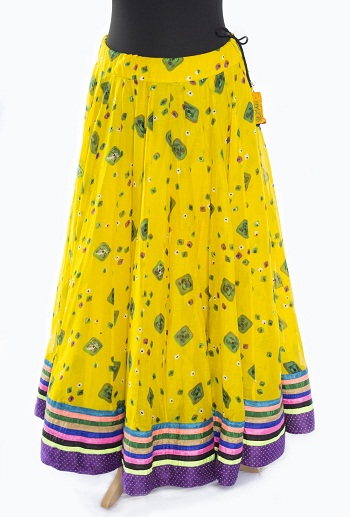 Fancy Yellow Gypsy Skirt
