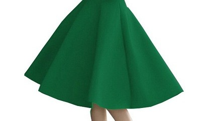 Flared Green skirts