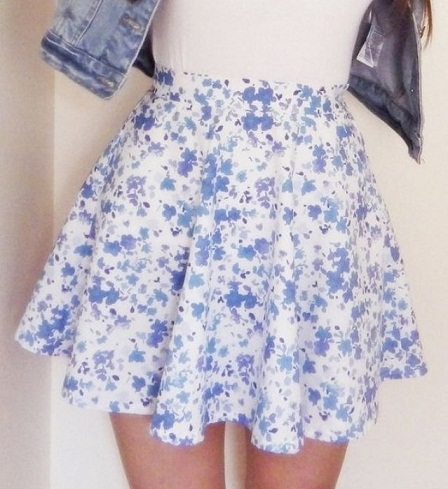 Floral Print Mini Summer Skirts