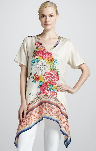Floral Print Stylish Tunics for Girls