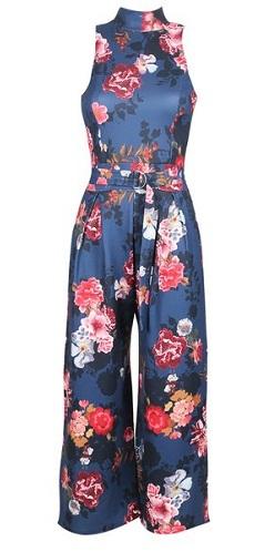 Floral print Culotte Jumpsuit-5