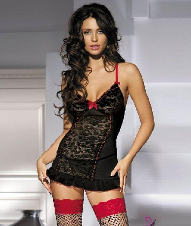 Flower lace Transparent Nighty