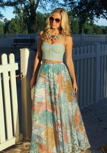 Flowy High-Waist Skirt