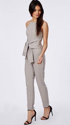 Front Tie Office Jumpsuit