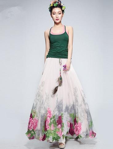 Garden print Floral Skirt