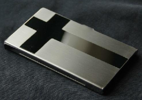 Geometric Pattern Steel Wallet
