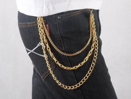 Gold Chain Belt Design for Men