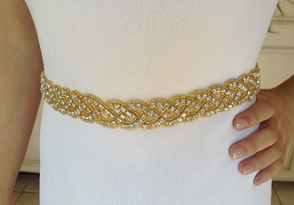 Gold Pearl and Diamond Gold Belt for Women