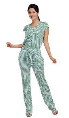 Green cocktail Jumpsuit