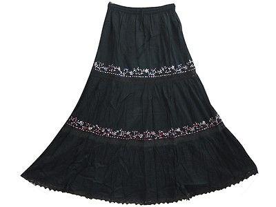 Gypsy Style Black Summer Skirts