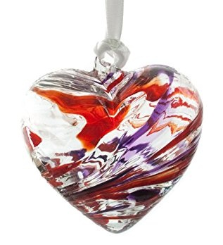 Heart shaped January birthstone pendant