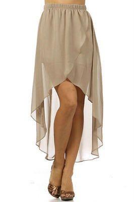 Hem Overlay Chiffon Skirt