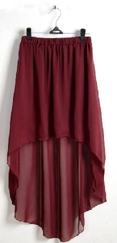 High -Low Chiffon Skirt