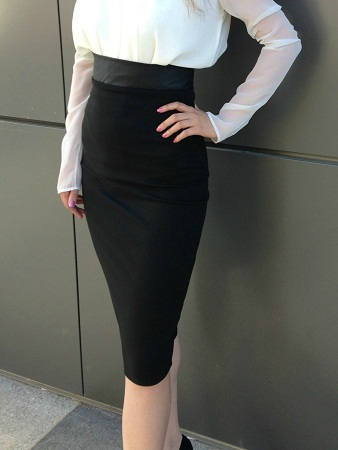 High Waist White Tight Pencil Skirts