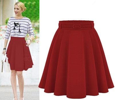 High waisted casual skirt