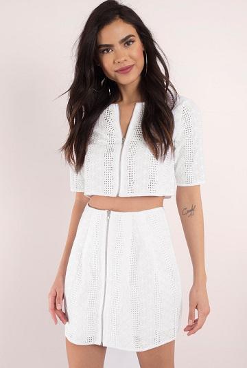 Hot Mini White Skirts