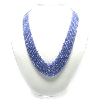 Indian Blue Row bead Pendant Necklace
